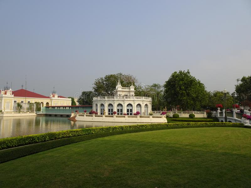 Royal summer palace Bang Pa In stock images