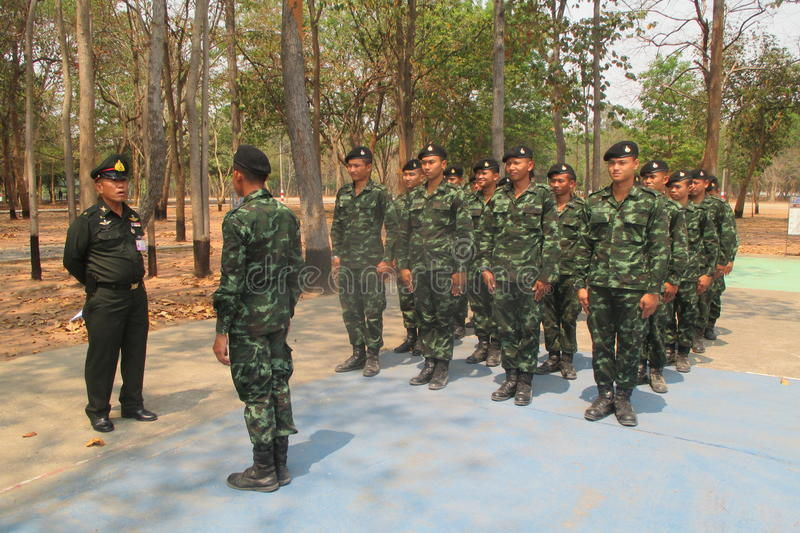 Royal thai army stock images