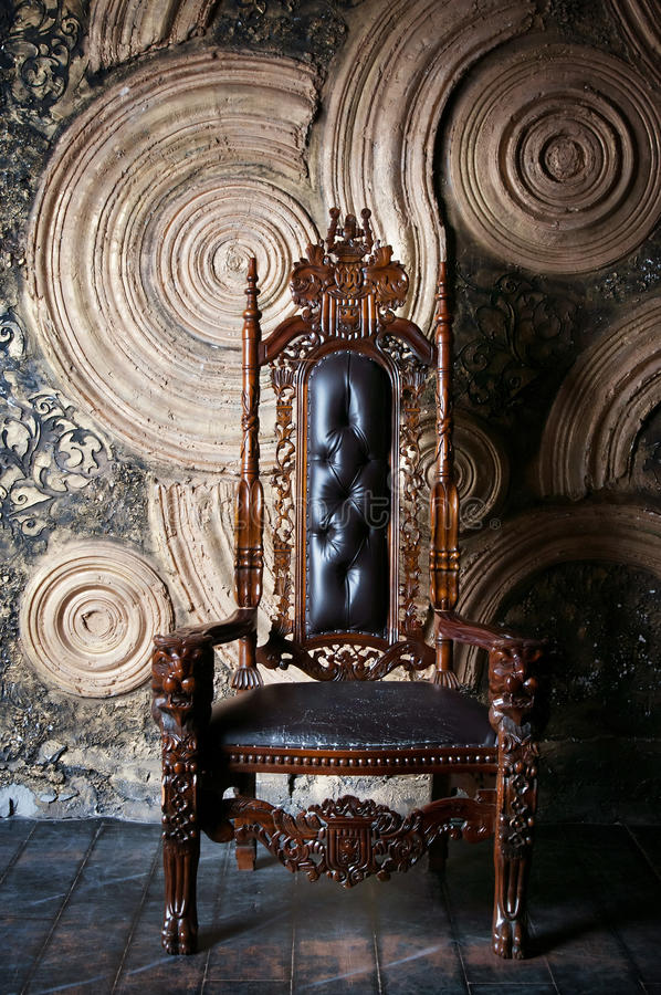 Download Royal Throne For King And Queen Symbol Of Power Stock Photo