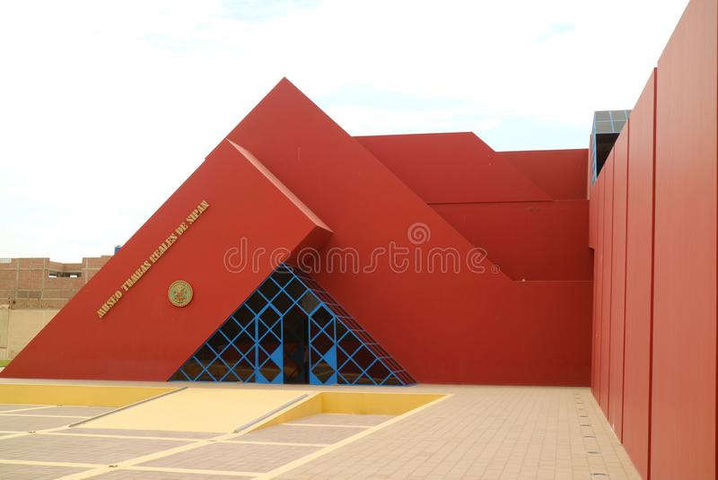 The Royal Tombs of Sipan Museum or Museo Tumbas Reales de Sipan in Lambayeque, Chiclayo, Peru royalty free stock photo