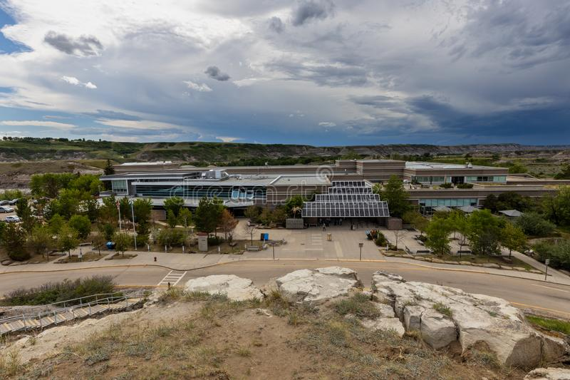 Royal Tyrrell Museum for Dinosaurs at Drumheller in Alberta Canada, 12. June 2019. The Royal Tyrrell Museum for Dinosaurs at Drumheller in Alberta Canada, 12 stock image