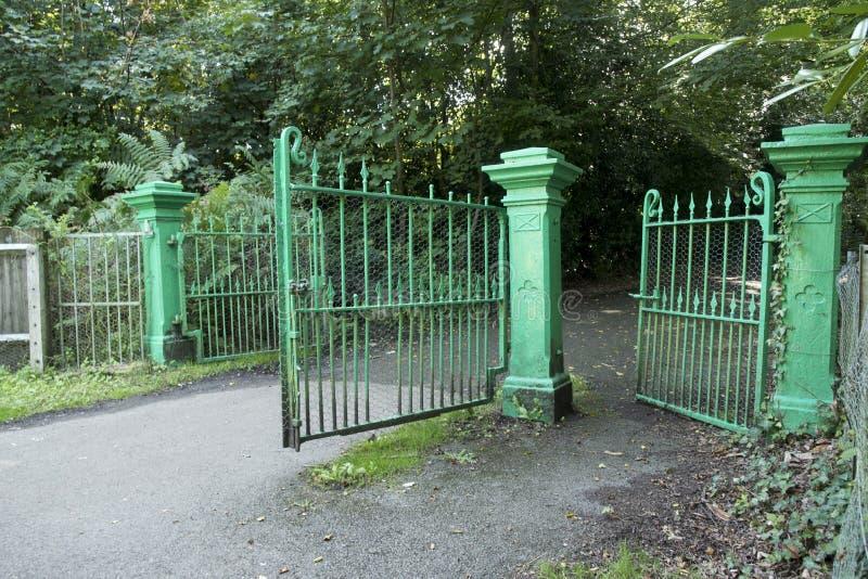 Netley Military Cemetery entrance gates stock image