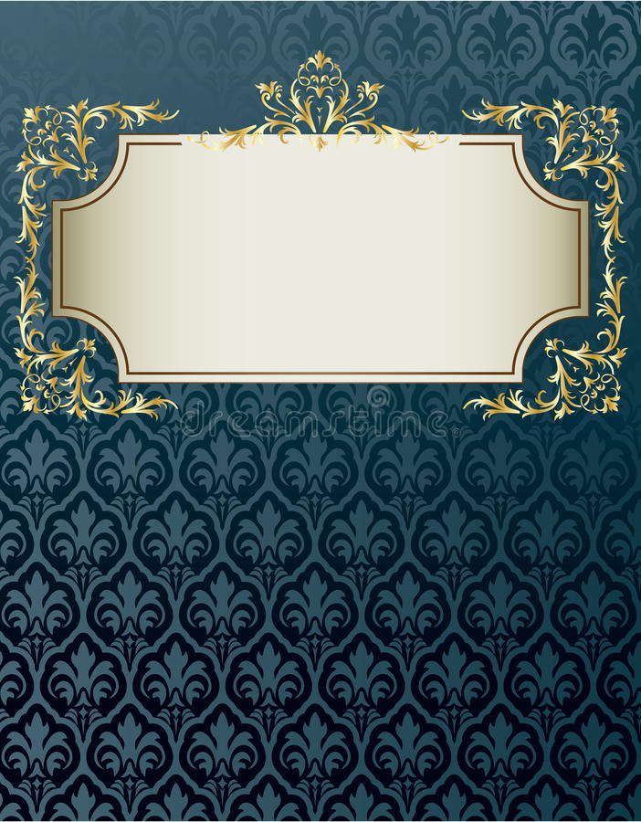Royal vintage cover. In editable vector format royalty free illustration