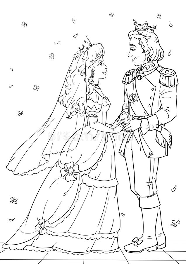 Royal wedding stock illustration Image of figure king