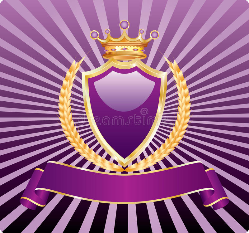 Download Royal wheat purple stock vector. Illustration of insignia - 15341381