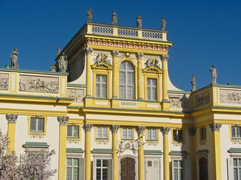 Royal Wilanow Palace in Warsaw, Poland. Close-up stock images