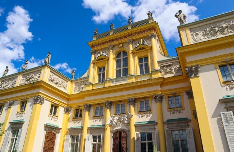 Royal Wilanow Palace in Warsaw. Residence of King John III Sobieski. Poland. August 2019. Royal Wilanow Palace in Warsaw. Residence of King John III Sobieski stock images