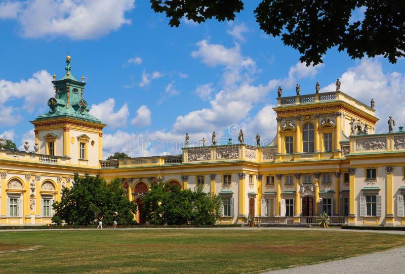 Royal Wilanow Palace in Warsaw. Residence of King John III Sobieski. Poland. August 2019. Royal Wilanow Palace in Warsaw. Residence of King John III Sobieski stock image