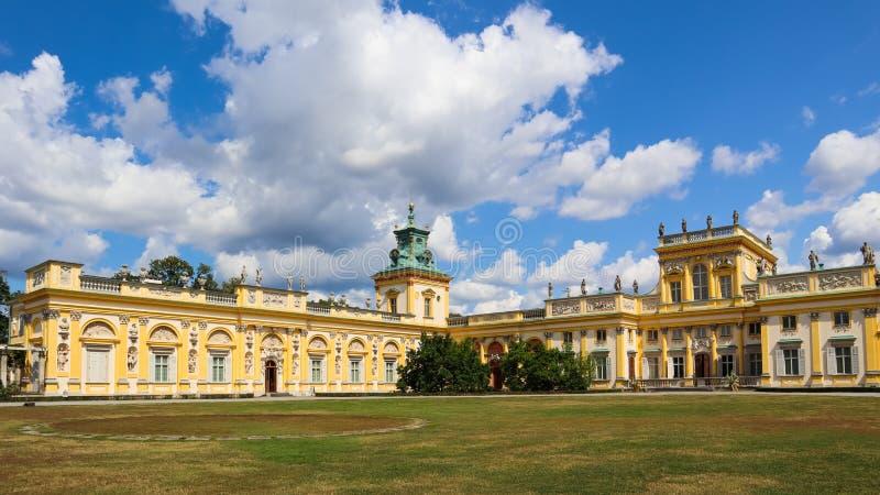 Royal Wilanow Palace in Warsaw. Residence of King John III Sobieski. Poland. August 2019.  royalty free stock photo