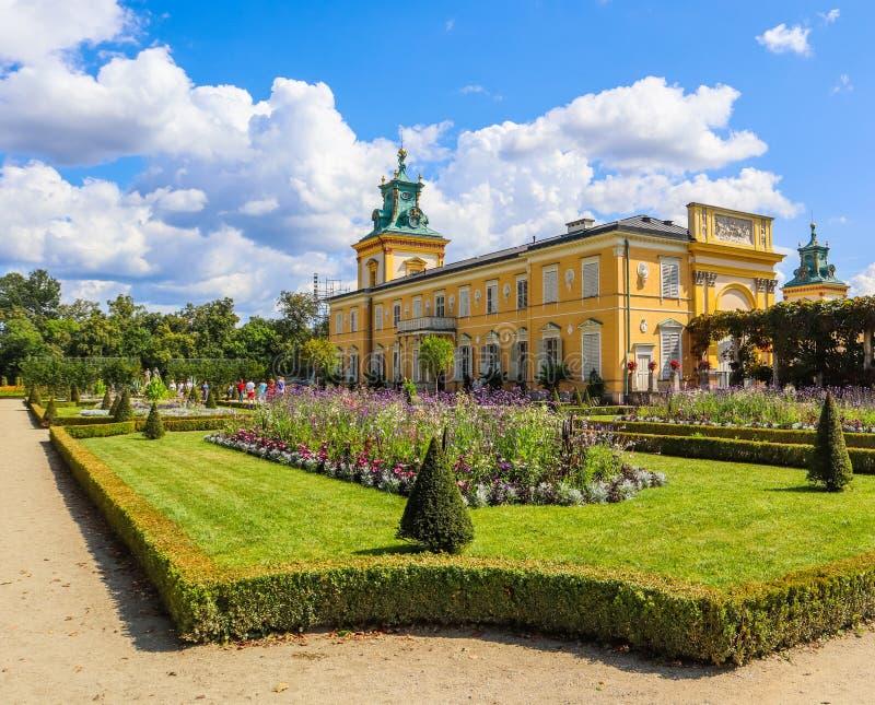 Royal Wilanow Palace in Warsaw. Residence of King John III Sobieski. Poland. August 2019.  stock photography