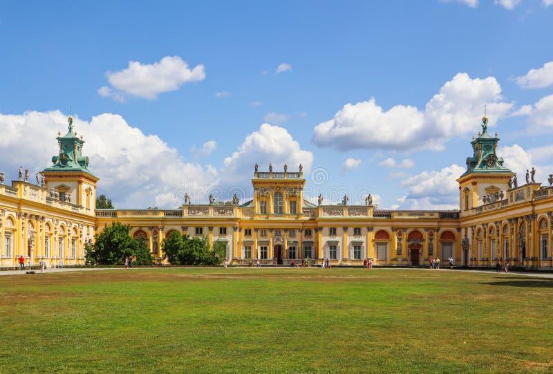 Royal Wilanow Palace in Warsaw. Residence of King John III Sobieski. Poland. August 2019. Royal Wilanow Palace in Warsaw. Residence of King John III Sobieski royalty free stock images