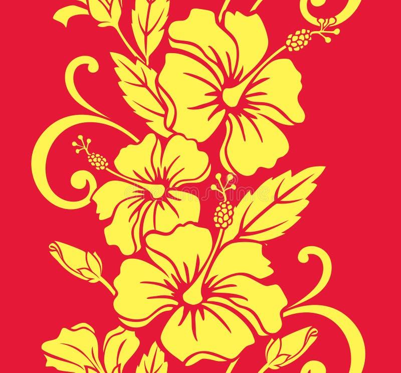 royale картины граници гаваиское безшовное иллюстрация вектора