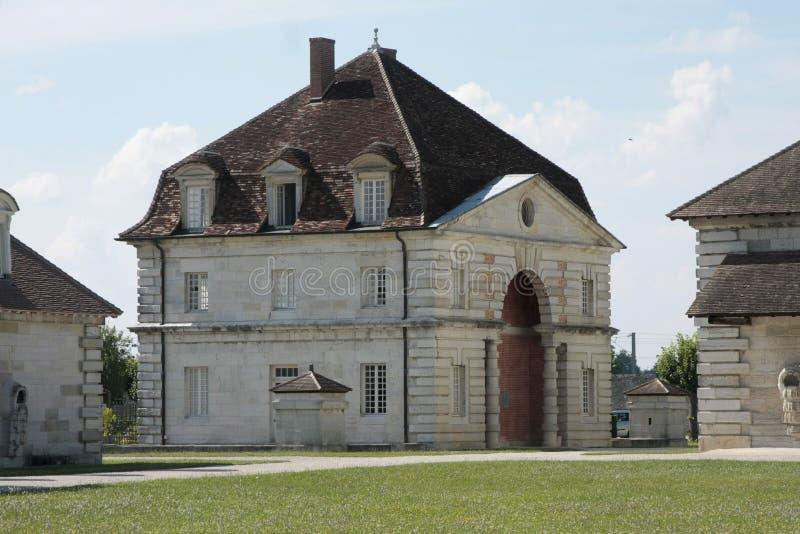Royale salino in arco et in Senans Monumento storico fatto dall'architetto di Claude-Nicolas Ledoux, in arco et in Senas Francia immagini stock