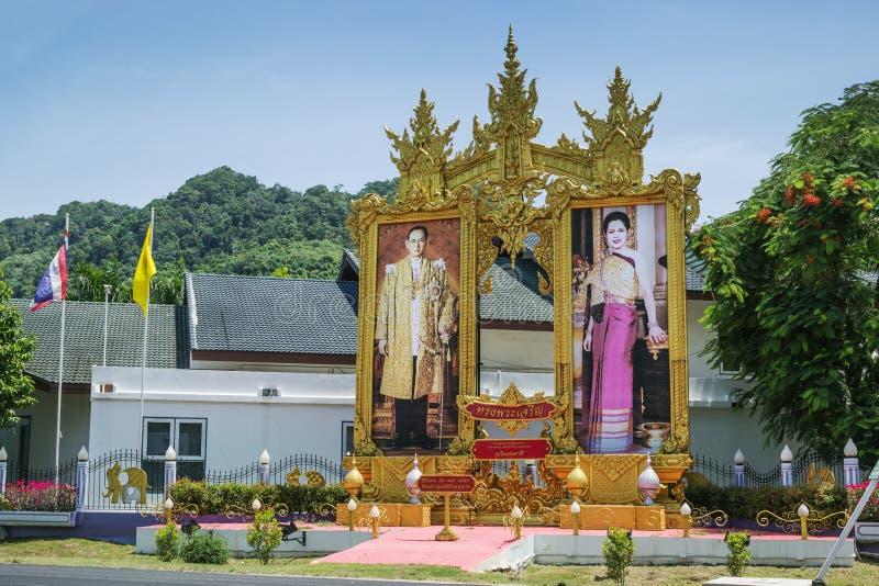 Royals cari del ritratto nel villaggio di Kamala sull'isola o immagini stock libere da diritti