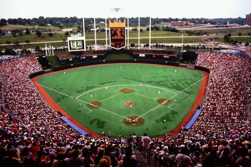 Royals Stadium, Kansas City, MO. royalty free stock photos