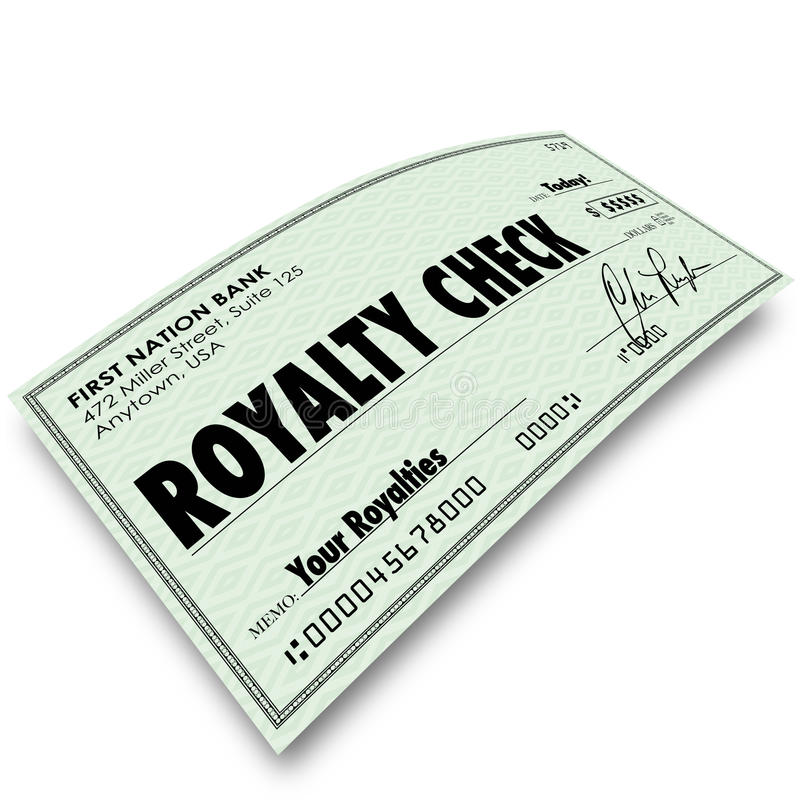 Royalty Check Commission Income Percentage Revenue Sales Stock Illustration - Illustration of ...
