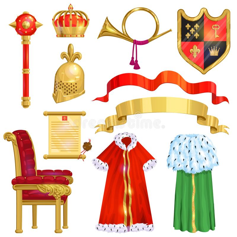 Royalty Vector Golden Royal Crown Symbol Of King Queen And Princess