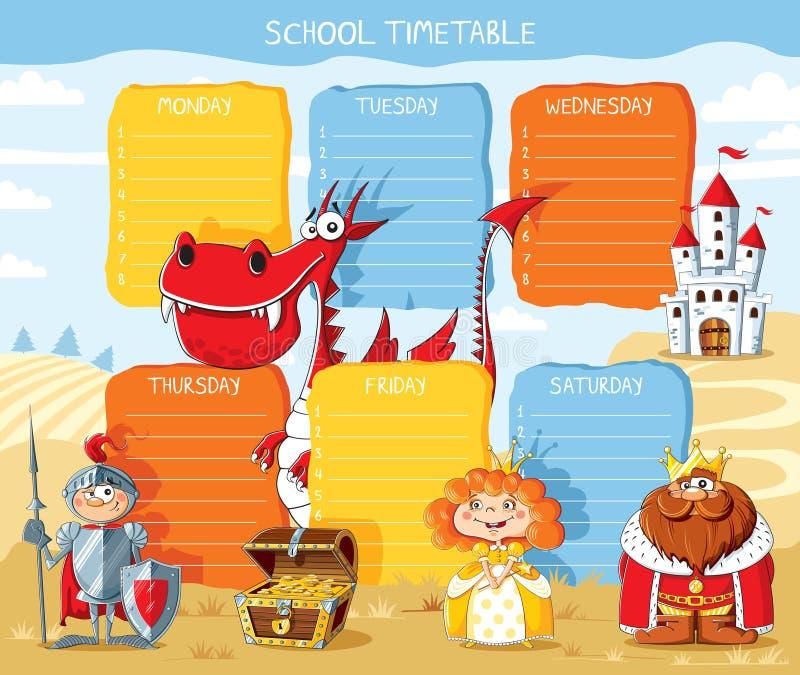 Royaume d'horaire d'école images stock
