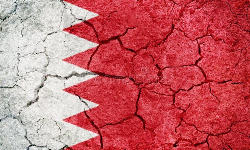 Royaume de drapeau du Bahrain images libres de droits