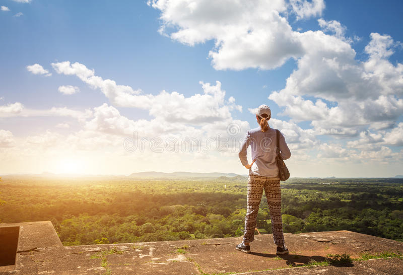 Royaume de Sigiriya Sri Lanka, endroit de touristes célèbre photo stock