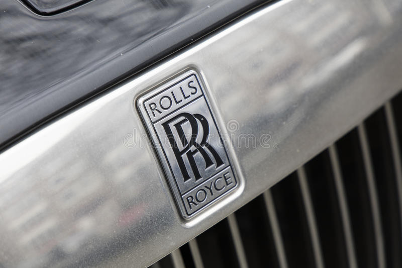 Royce de Olls em um carro fotografia de stock royalty free