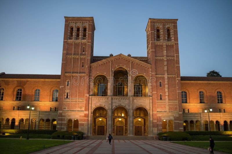 Royce Hall no terreno do University of California, Los Angeles fotografia de stock royalty free
