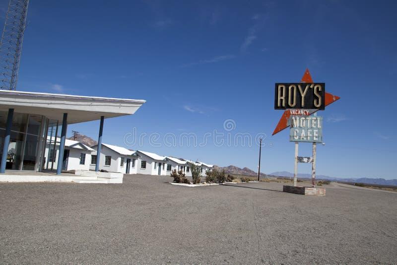 Roys汽车旅馆和咖啡馆, Amboy 免版税图库摄影