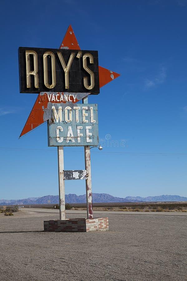 Roys汽车旅馆和咖啡馆, Amboy 库存图片