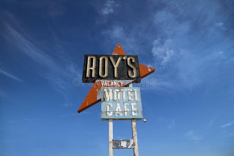 Roys汽车旅馆和咖啡馆, Amboy 免版税库存照片