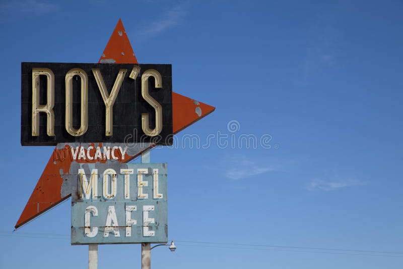 Roys Sign, Amboy stock photography