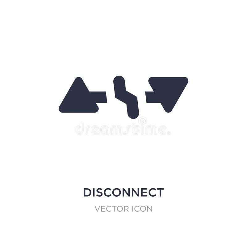 rozłączenie ikona na białym tle Prosta element ilustracja od UI pojęcia ilustracji