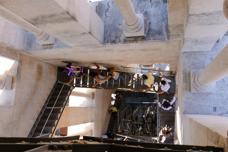 Rozłam, Chorwacja dzwonkowy wierza schody zdjęcie royalty free