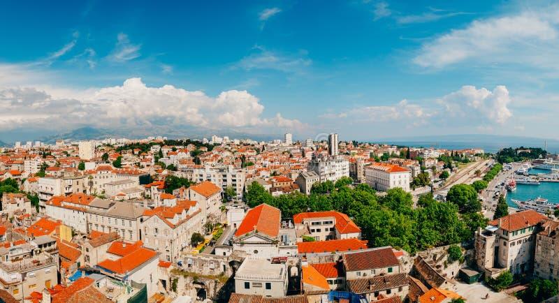 Rozłam, stary miasteczko, Chorwacja Widok od Bell wierza fotografia royalty free