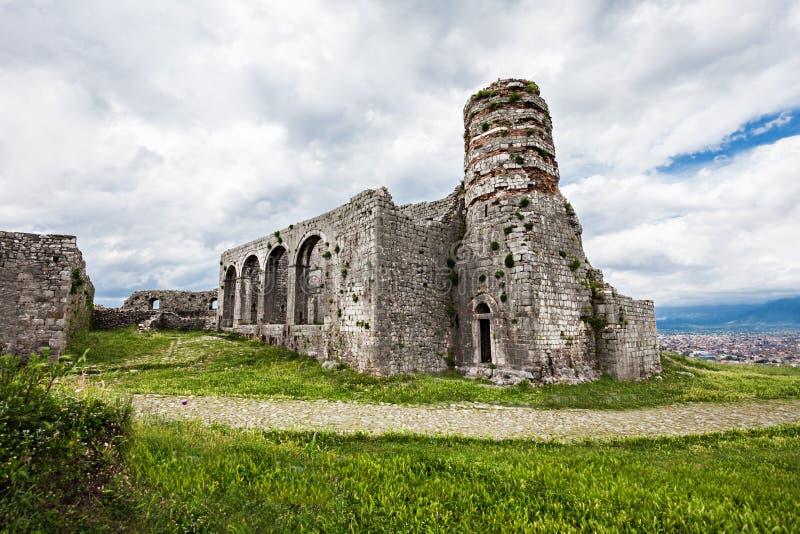 Rozafa城堡 免版税库存图片