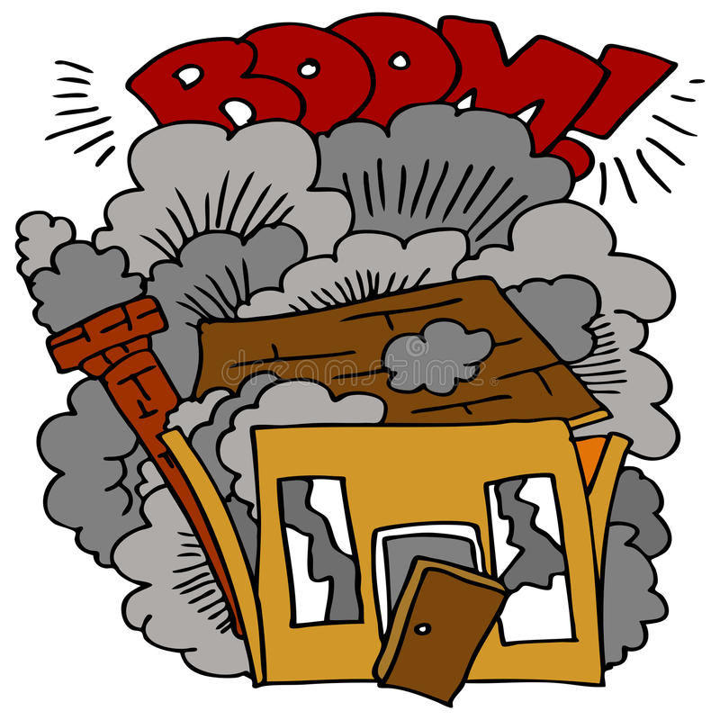 rozbiórka dom royalty ilustracja