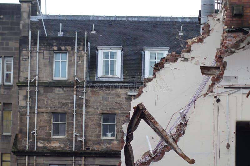 Rozbiórka i zniszczenie architektura zdjęcia royalty free