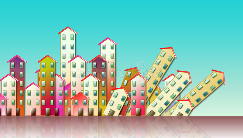 Rozbiórka miastowa aglomeracja ilustracja wektor