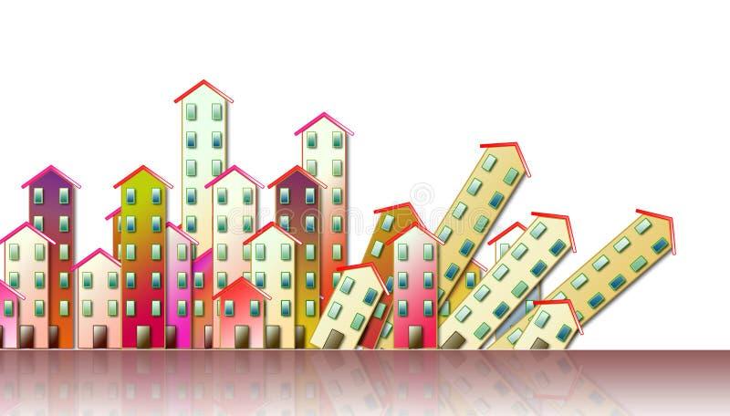 Rozbiórka miastowa aglomeracja - pojęcie ilustracja royalty ilustracja
