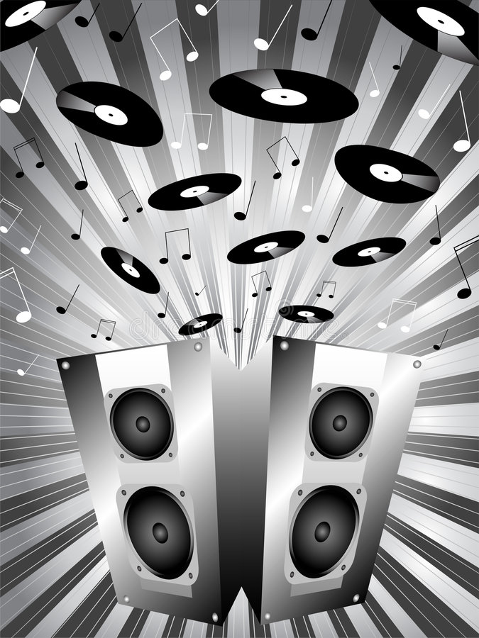 rozbić muzykę royalty ilustracja