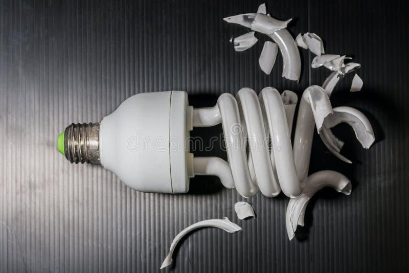 rozbita lampa zdjęcie royalty free