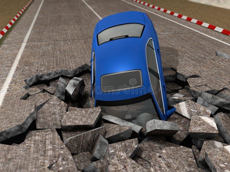 rozbity samochód ilustracji