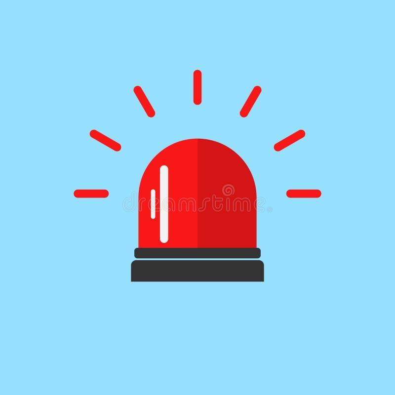 Rozblaskowy alarmowy sygnał Migacz raźna ikona royalty ilustracja