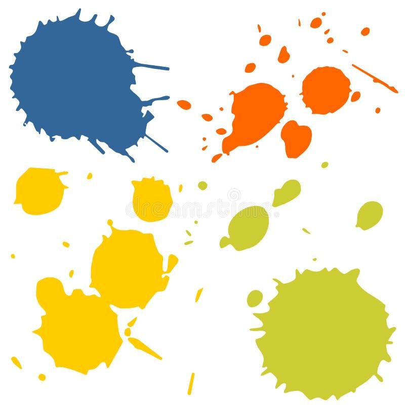 rozbryzguje się farb drukarskich royalty ilustracja