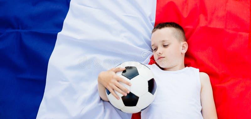 Rozczarowana Francja obywatela drużyna futbolowa obrazy royalty free