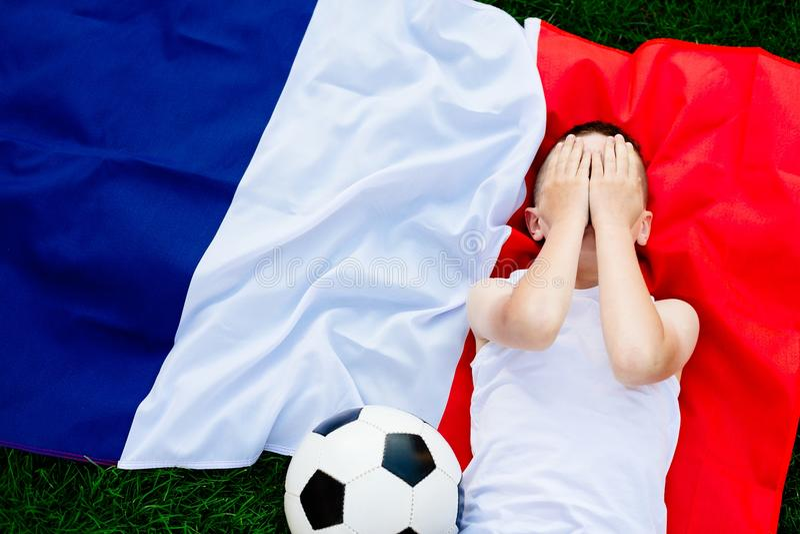 Rozczarowana Francja obywatela drużyna futbolowa fotografia stock