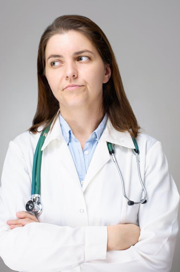 Rozczarowana kobiety lekarka fotografia royalty free