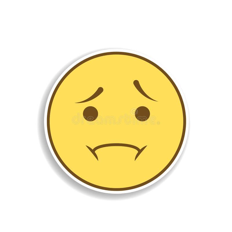 rozczarowania emoji majcheru barwiona ikona Element emoji dla mobilnych pojęcia i sieci apps ilustracyjnych ilustracji