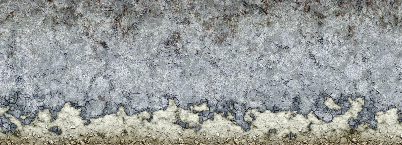 rozdrabnianie betonowa ściana royalty ilustracja
