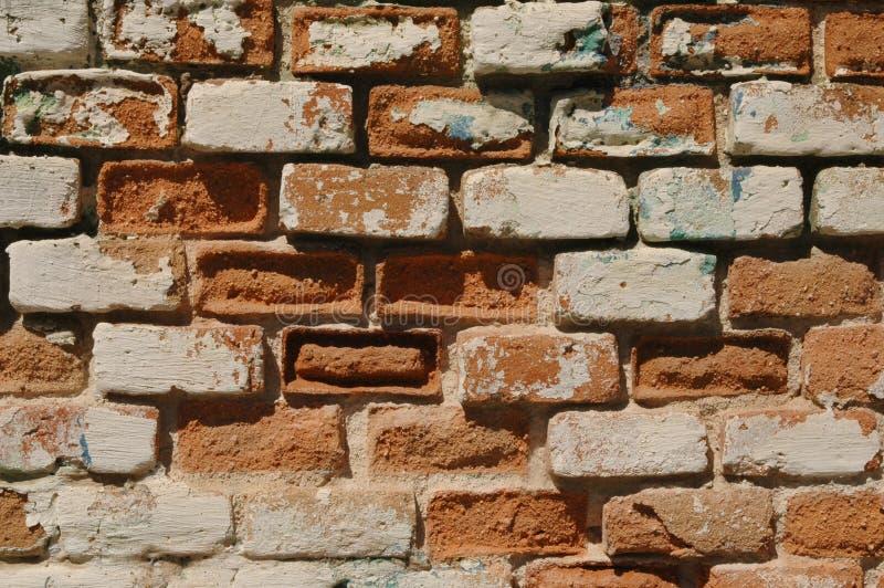 rozdrabnianie ceglana ściana zdjęcie royalty free