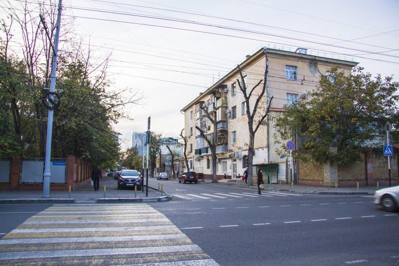 Rozdroże przy Sovetskaya ulicą fotografia stock